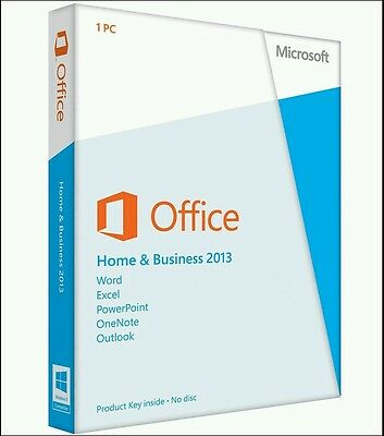 Microsoft Office Home and Business 2013 Full Retail Version (1 User & 1 PC)