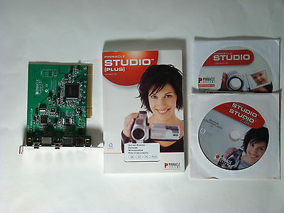 PINNACLE STUDIO AV/DV Video Capture PCI Card  (+ Pinnacle Studio Plus version 9)