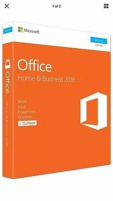 Microsoft Office Home and Business 2016 1PC English - NEW SEALED