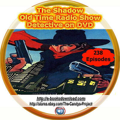 The Shadow Old Time Radio Shows Detective Suspense Audio Pulp Fiction Mp3 DVD
