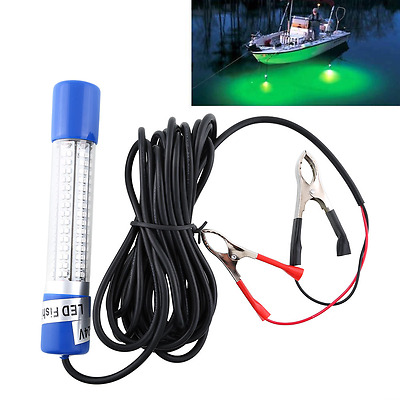 12V Green Night LED Underwater Boat Submersible Fishing Fish Lure Light