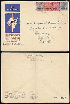 Bahrain Overprint On India Imperial Flight To Australia