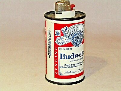 Budweiser Can Table  Lighter Tobacco Cigarette Collectible