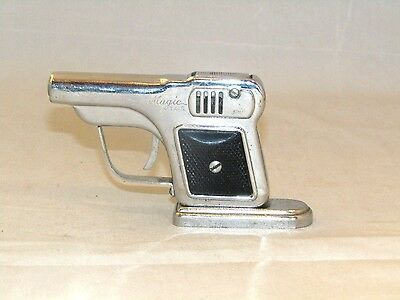 Vintage Rare Pistol Gun Cigarette Lighter With Stand Japan Collcetible