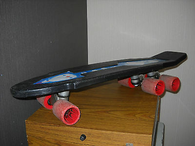 COLLECTOR RARE VINTAGE SKATEBOARD 6 WHEELS - 6 ROUES 80's Italy