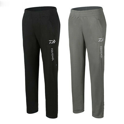 Mens Bamboo Fiber Fishing Pants Anti UV Breathable Quick-drying Dark/Light Grey