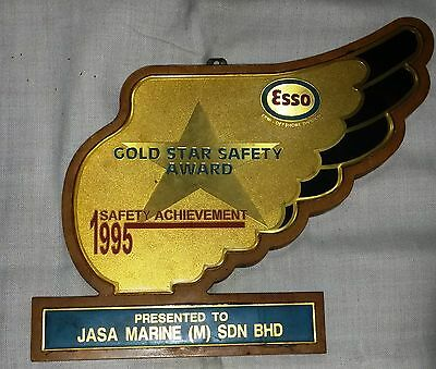 Marine VINTAGE  AWARD OF GOLD STAR SAFETY AWARD FROM  SAFETY ACHIEVEMENT 1995