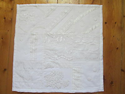 Vintage Lace Handmade Patchwork Quilt Throw Rug Material Heritage Sewing Fabric