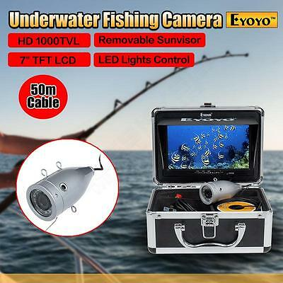 "Professional Fish Finder Underwater Video HD Camera 7"" Color TFT LCD&50m Cable"