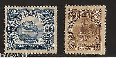 1896 El Salvador Stamps  Fine Unused  See Scan For Back And Front