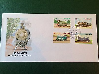 1987 Malawi Locomotives Trains First Day Cover Mint