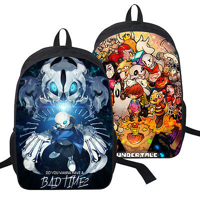 Game Undertale Sans Papyrus Multi-charact Casual Backpack Schoolbag Laptop Bag