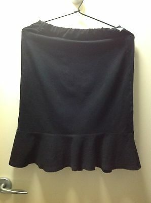 Black Stretchable Maternity Skirt - Size M