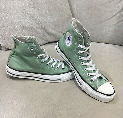 Converse All Star High Tops Green Shoes Unisex Mens 8 Women's 10 Sneakers