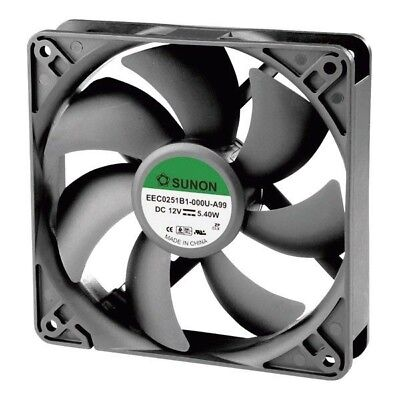 SUNON® EEC0251B1-000U-A99 DR Brushless Axial Fan 12V DC 120 x 120 x 25mm