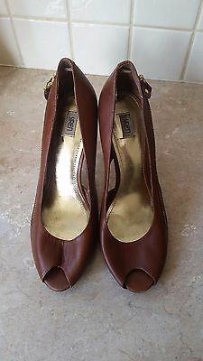Womens Shoes - Siren Leather Tan Heels Size 10