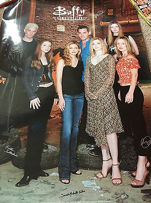 Buffy The Vampire Slayer A1 Poster - Hand Signed By 10 - COA