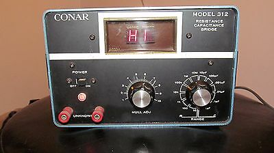 Vintage CONAR Resistance Capacitance Bridge Model 312