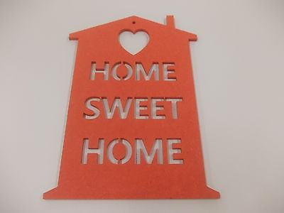 Home Sweet Home Wall Plaque  A3 Red Home Decoration House Warming Gift