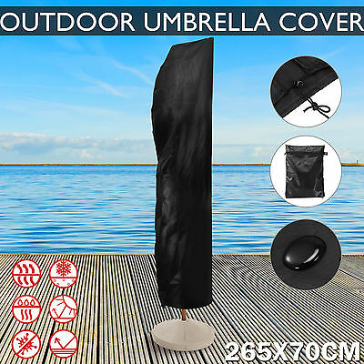 Outdoor Banana Umbrella Cover Garden Patio Cantilever Parasol Protective