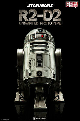 R2D2 UNPAINTED PROTOTYPE SDCC EXCLUSIVE SIDESHOW Sixth Scale Figure NEW in BOX
