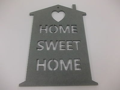 Home Sweet Home Wall Plaque  A3 Dark Grey Home Decoration House Warming Gift