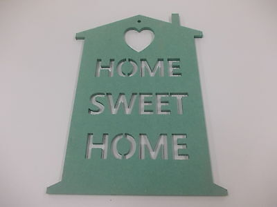 Home Sweet Home Wall Plaque  A3 Mint Green Home Decoration House Warming Gift