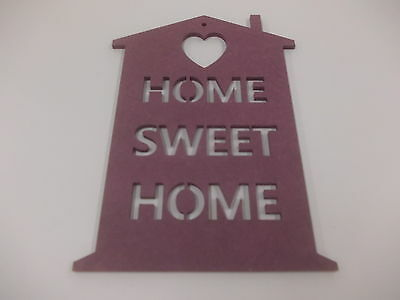 Home Sweet Home Wall Plaque  A3 Violet Home Decoration House Warming Gift