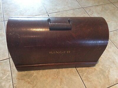 Vintage Singer 3/4 Size Sewing Machine Bentwood Case Top Cover Only For 99K Etc