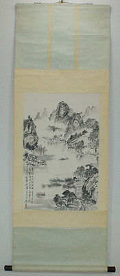 """Chinese Hanging scroll  """"Landscape painting"""" #1538"""