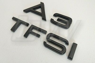 Custom Gloss Black A3 & Tfsi Badge Set Lettering Audi S Line Black Edition S3