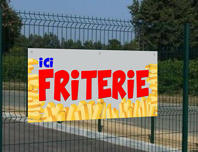 "Banderole ""Ici Friterie"""