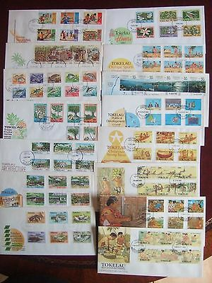 TOKELAU ISLANDS - COLLECTION OF 30 x DIFFERENT FIRST DAY COVERS 1971-1990