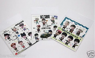 BTS BANGTAN BOYS DIY Sticker 3pcs KPOP Bangtan Sonyeondan DIY Sticker 3pcs