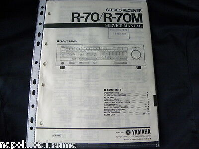 Yamaha R-70 / R-70M Factory Original Service Manual New