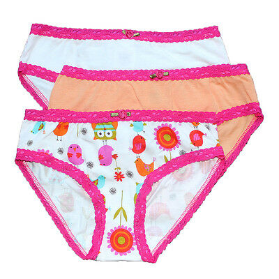 Esme Girls Comfortable Underwear M 6-6x Panty bird 3 pack clearance