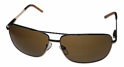 Kenneth Cole Reaction Mens Sunglass Gold / Brown Metal Aviator KC1076 772