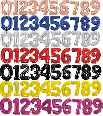 """Giant Foil Number Air Helium Glitz Large Balloons Birthday Party Wedding 34"""""""