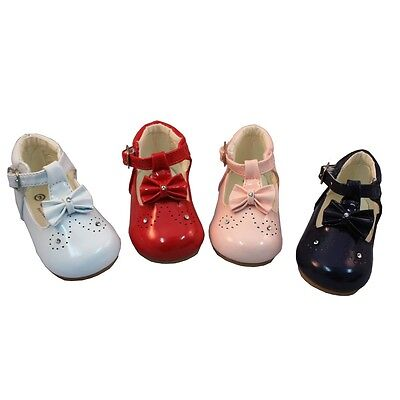 New Sevva Baby-Infant Spanish Style Bow Pram-First Walking-Occasion-Party Shoes