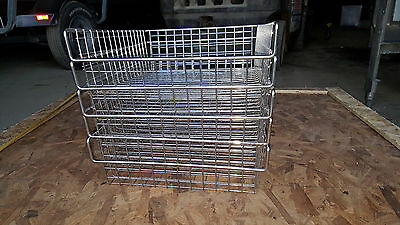 "5 Mesh Wire Donut Bagel Bakery Self Serve Display Rack Baskets 14"" x 18"" x 5"""