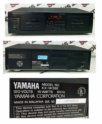 Yamaha KX-W382 Natural Sound Audio Dual Cassette Deck