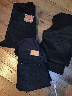 Lot 3 Jeans Grossesse 36-38-40 / 1 Pantalon Grossesse Rose