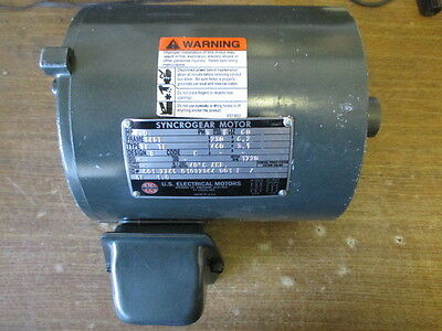 Us Electrical Syncrogear Motor Hp 2 Ph 3 Hz 60 145T Type Tf Te Code K 145T-12
