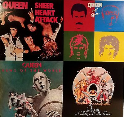 QUEEN Album flat featuring 4 covers. Suitable for framing. Mint!