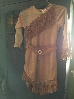 Disney Store Pocahontas Costume Size 7/8 With Headband And Shoes