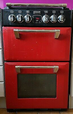 Stoves Richmond Mini range 550E Electric Cooker With Ceramic Hob Red