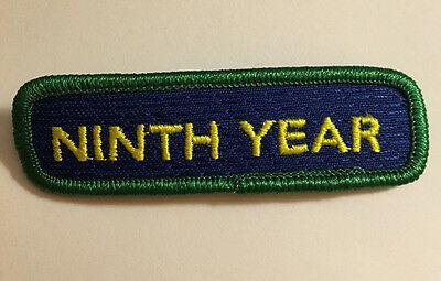 Girl Scout NINTH 9th YEAR REDEDICATION PATCH NEW