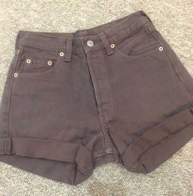 Vintage Levi's Shorts In Brown Size 6 8