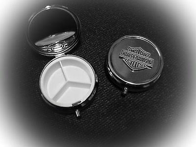 "Harley Davidson Pill Box Vitamin Box ""Great ❤️ Gift"""