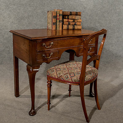 Antique Lowboy Desk Writing Table English Georgian Mahogany Quality c1800